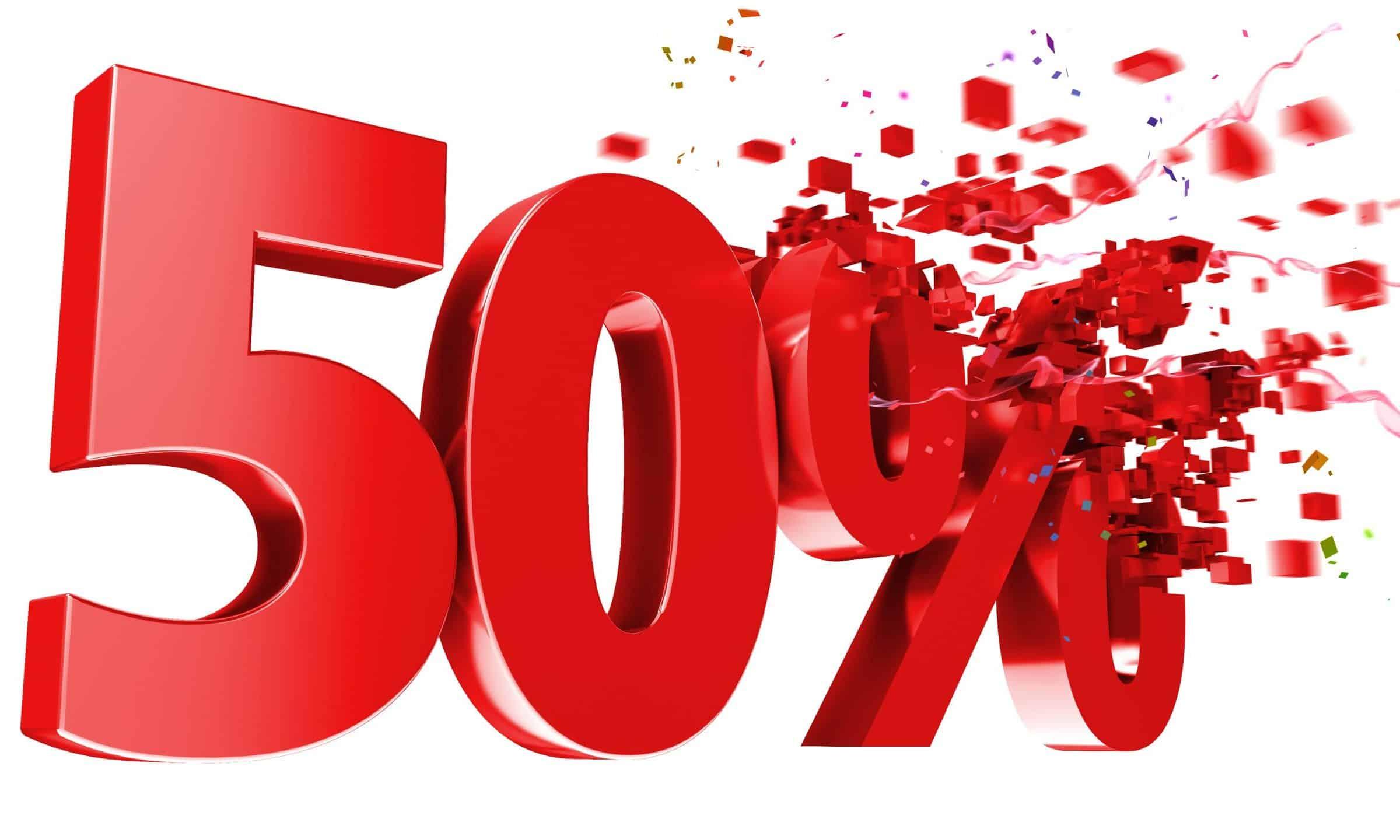 a 50 percent off image