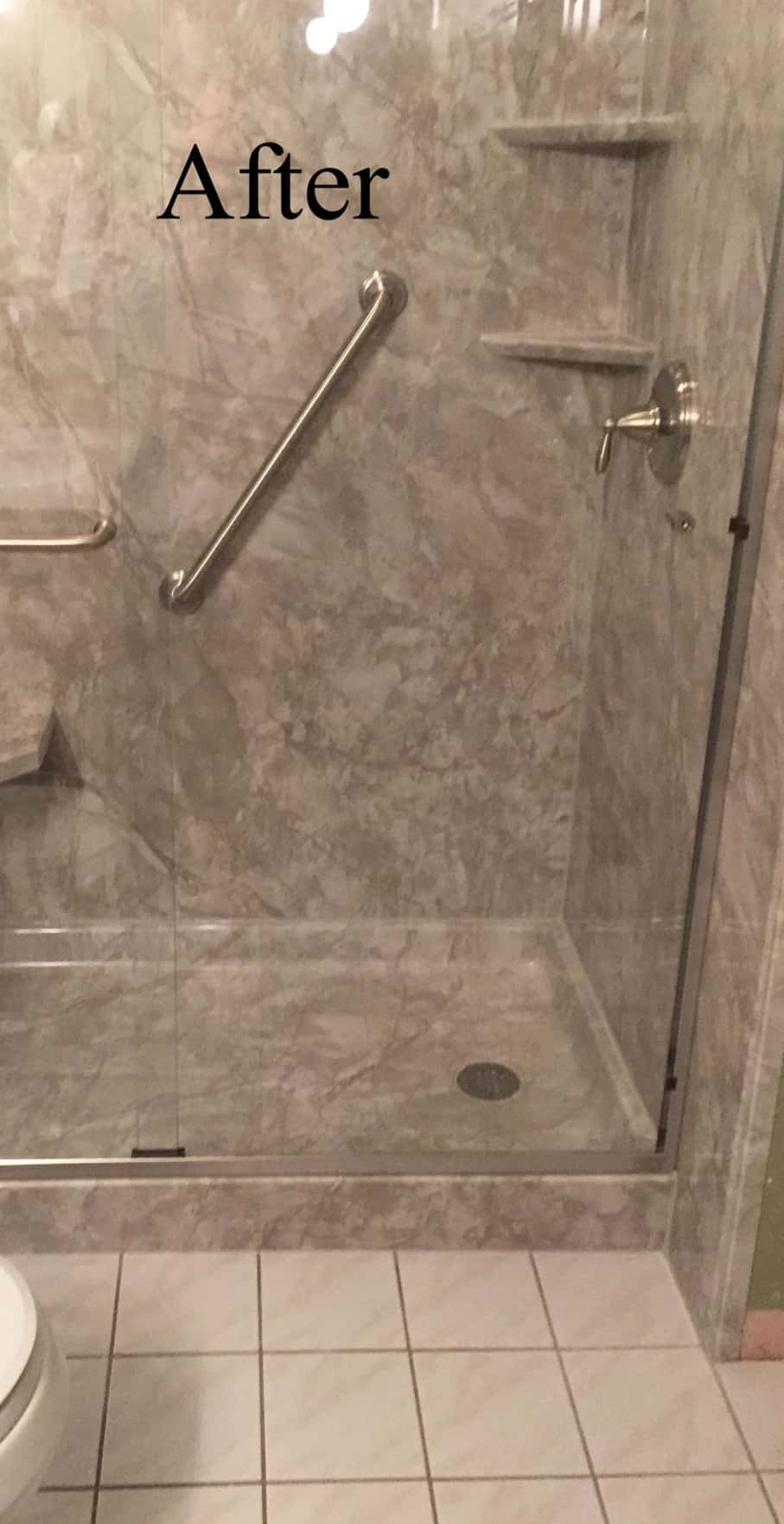 Tub to shower conversion - after 1