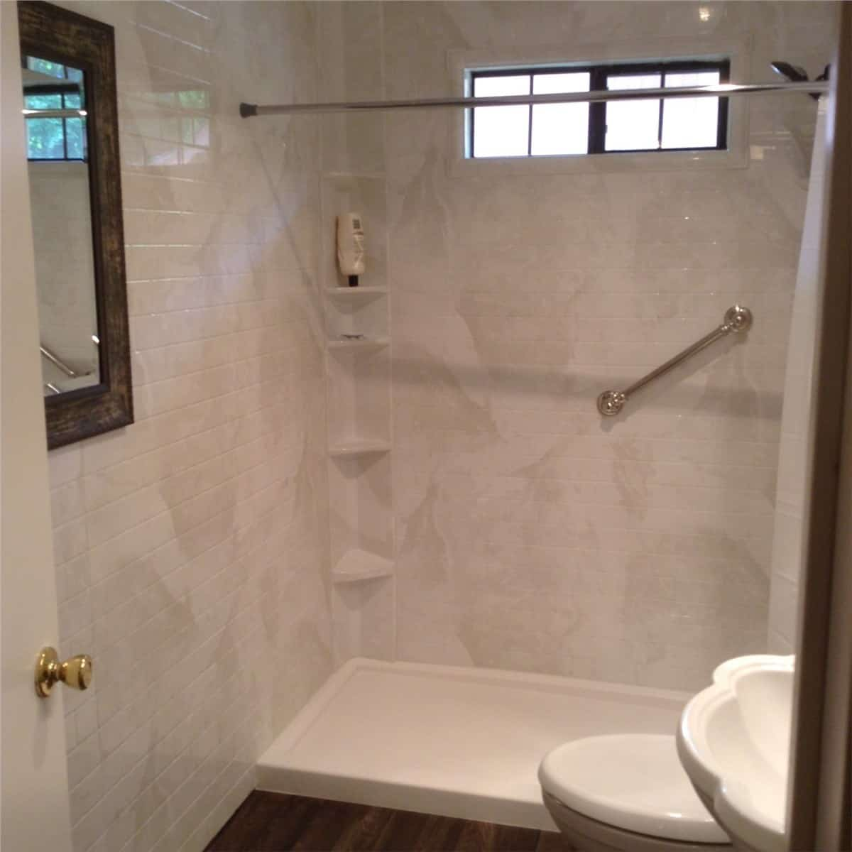 Tub to shower conversion - after 3