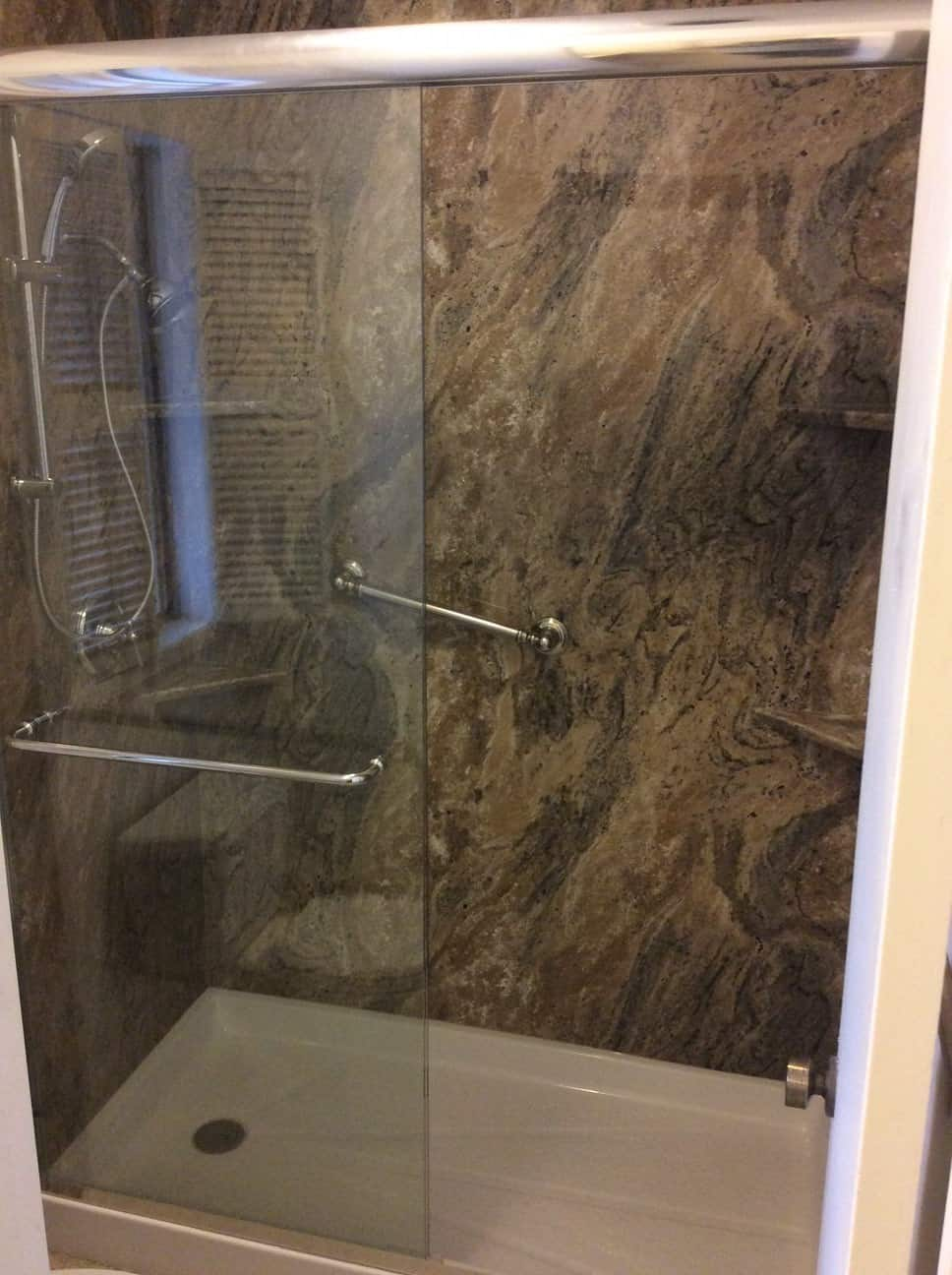 Tub to shower conversion - after 6