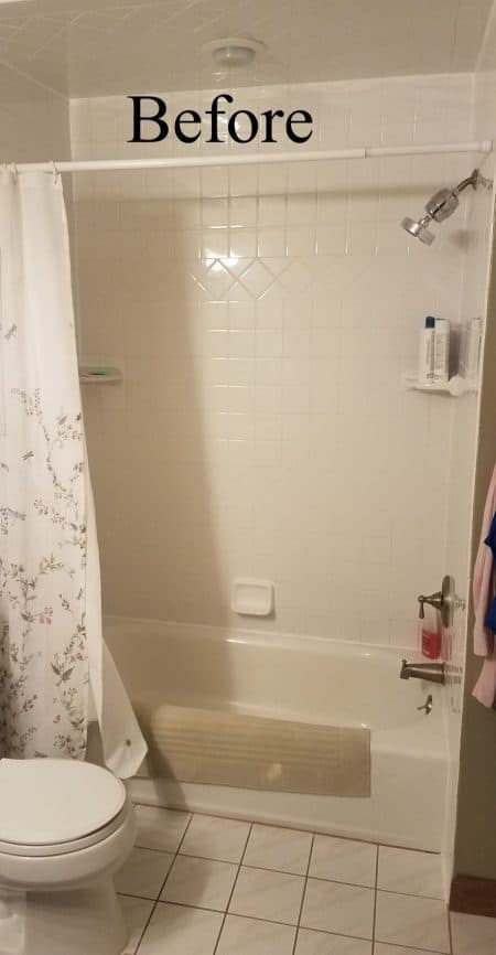 Tub to shower conversion - before 1