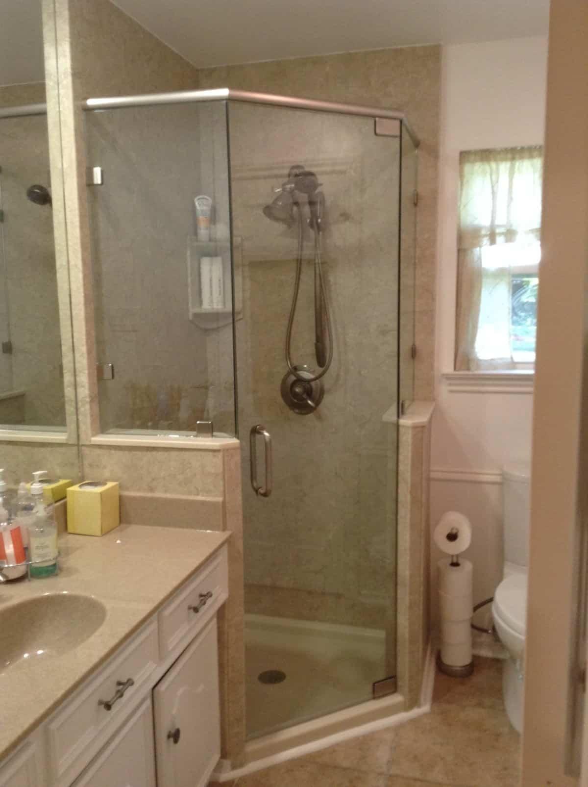 Corner Shower Remodeling (after) New Jersey Bathroom Pros