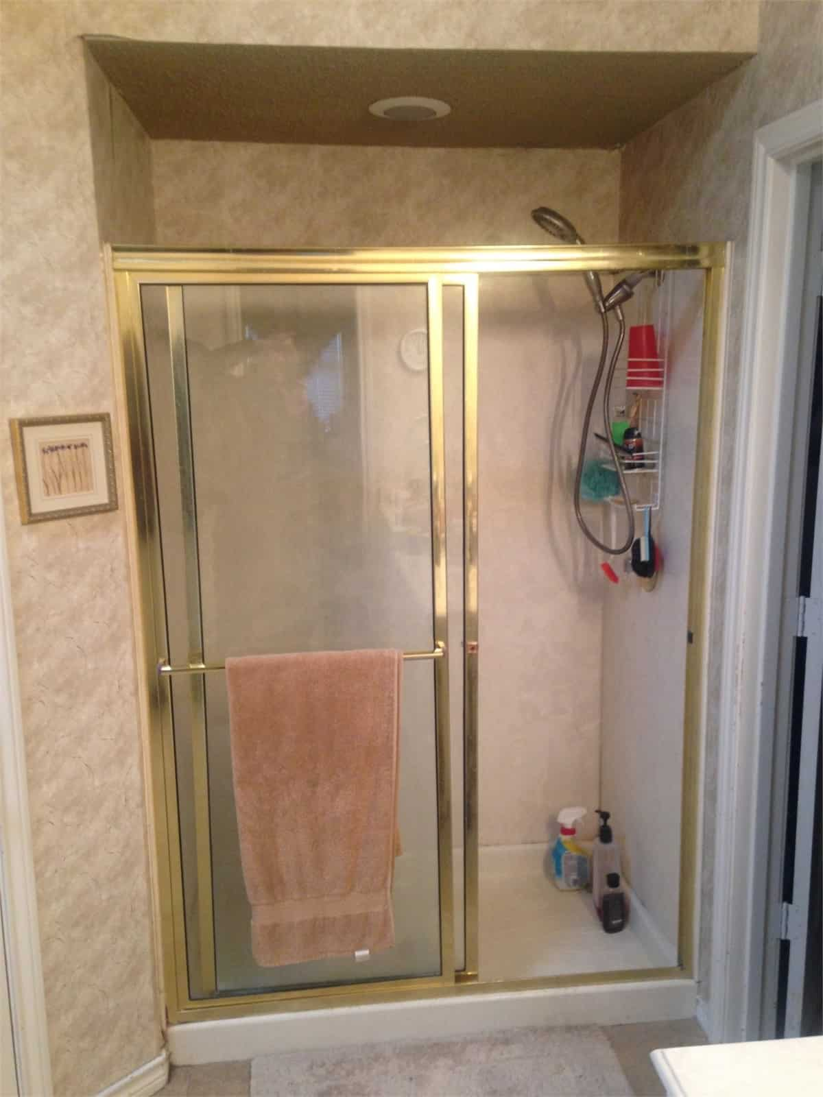 One Day Shower Remodeling (before) New Jersey Bathroom Pros