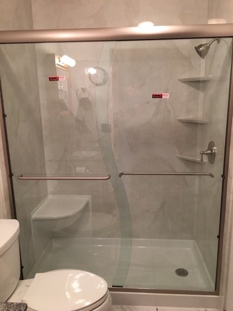 Tub To Shower Conversion (after 5) New Jersey Bathroom Pros