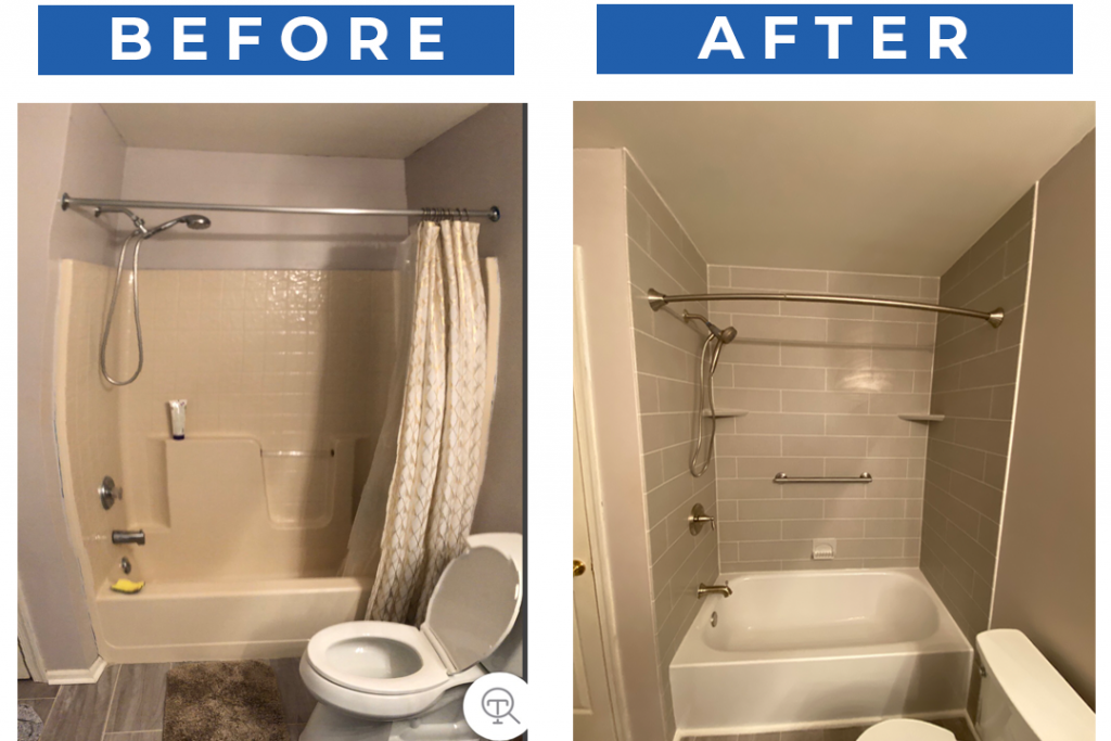Bathroom Pros New Jersey Before And After Bathtub Remodeling Project